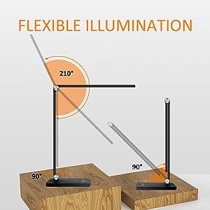 Flexible desk lamp arm