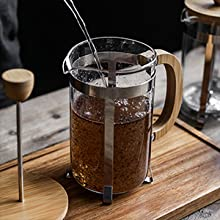 french coffee press BAMBOO 8 cups