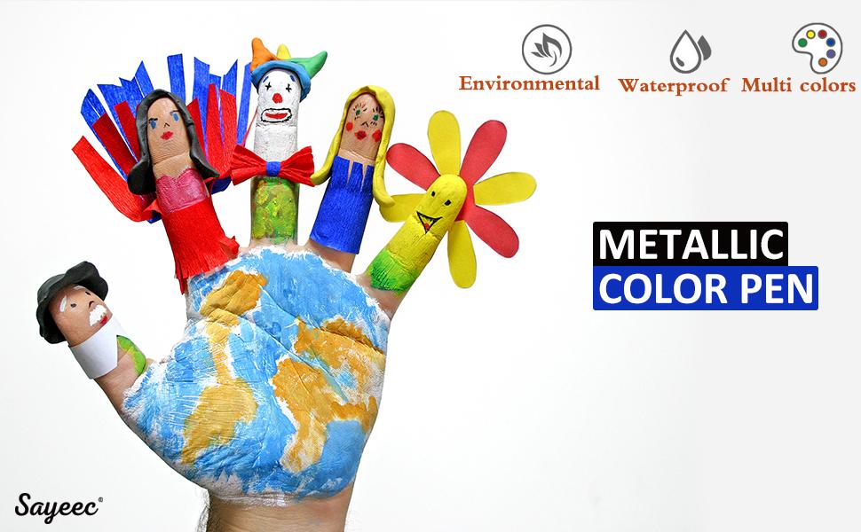 Sayeec Metallic Color Painting Pens