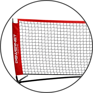 The PowerNet Badminton Tennis Net is sturdy and stays taut.