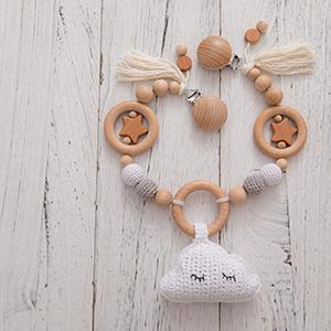 Mamimami Home 1pc Kinderwagenkette Junge M/ädchen Obst Kinderwagenkette Baby Bei/ßring Spielzeug Holz Schnuller Clip Montessori Spielzeug