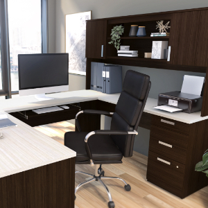 The robust desk in an office
