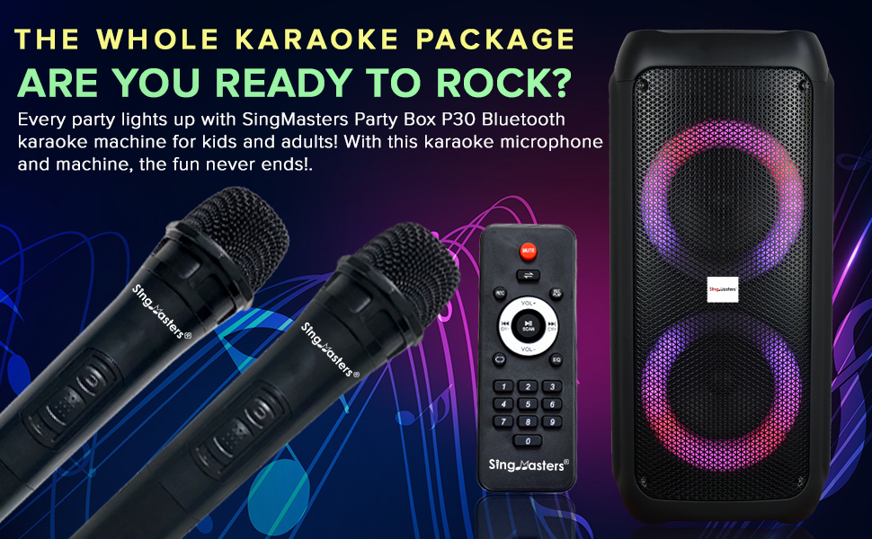 karaoke machine wireless bluetooth party speaker singmasters wireless