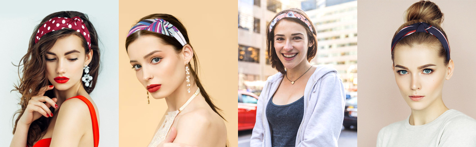 Frcolor Knotted Turban Headbands 6