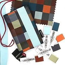 Portafoglio uomo Minimal e Originale, realizzato in tessuto jacquard. Wallet minimal pratico