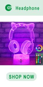 easuntec Headphone 3d led illusion lamp