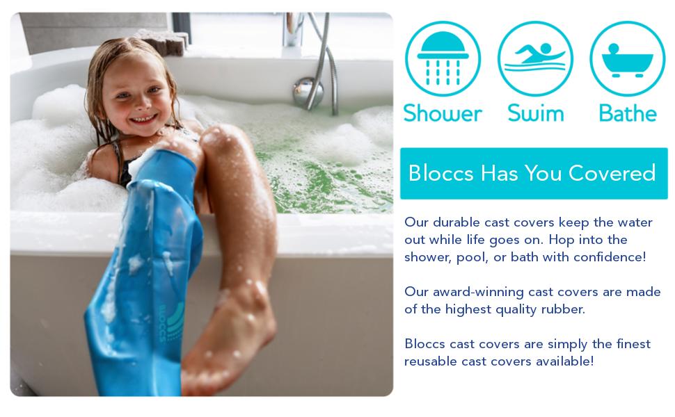 bloccs waterproof leg cast cover