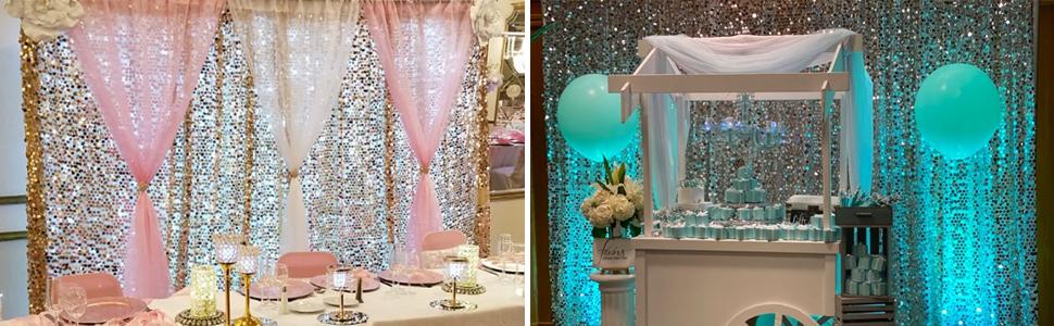 big payette backdrop drape curtains event decoration