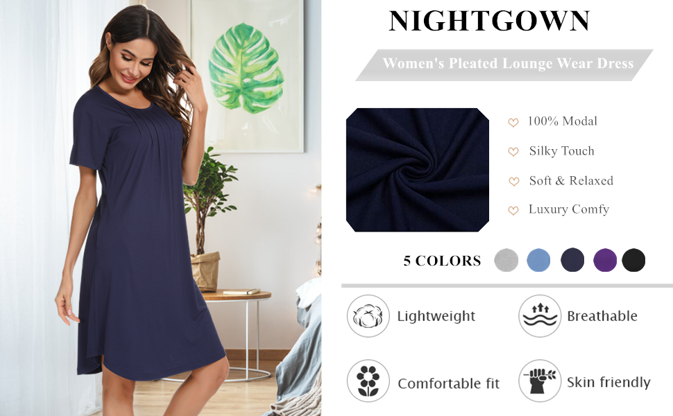 Vlazom Womens Nightgowns