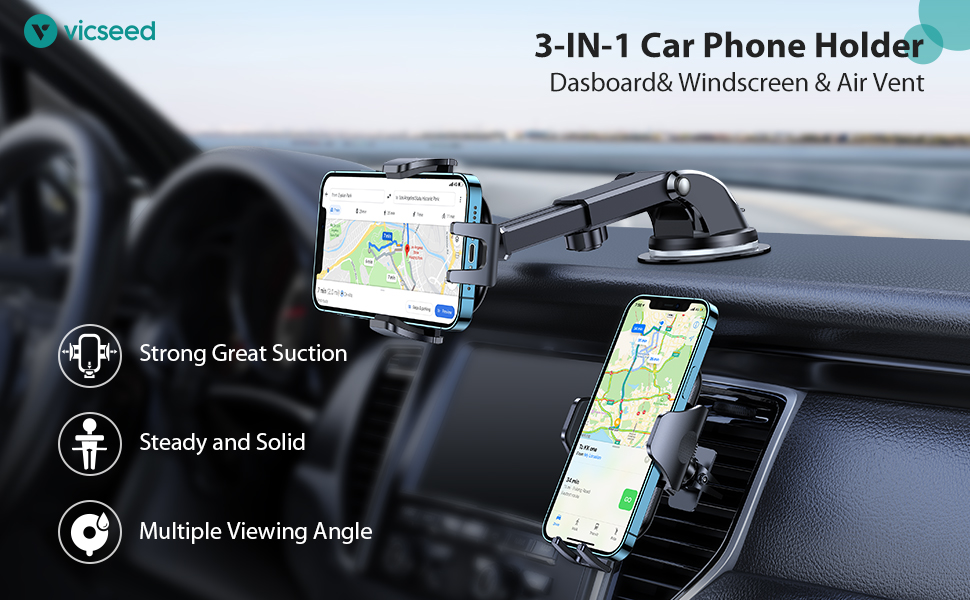 Multi-function Car Phone Mount cell phone holder for car phone holder mount