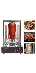 electric vertical grill shawarma grill vertical rotisserie grill