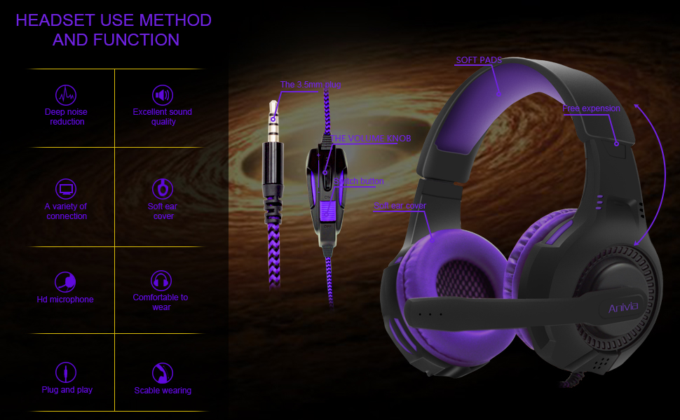 AH68 STEREO GAMING HEADSET FOR DETAILS