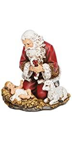 Santa with Baby Jesus