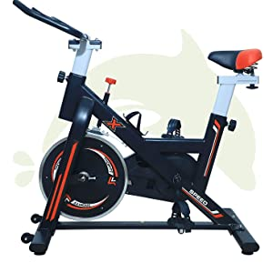 Exercisefitness Spinnin IndoorCycling , Smooth & Quiet Stationary Bike,for Home Gym Fully Adjustable