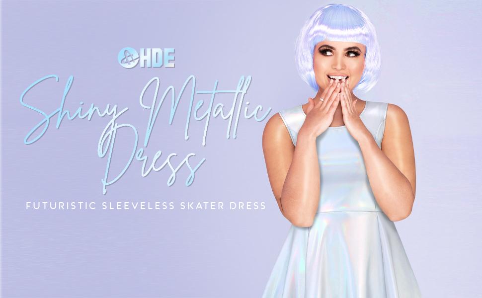 ladies nightclub fashion glittery holo sleeveless woman 1970s disco dancing queen opal