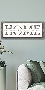Home Personalized Art Framed Canvas Option