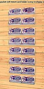Marketing Holders Multi Pocket Wall Mount Business Card Holder Rack