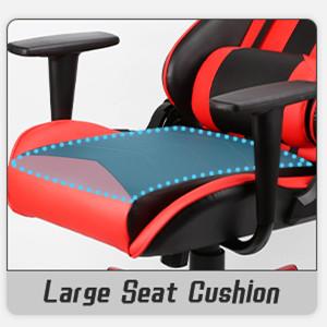 Larger seat cushion