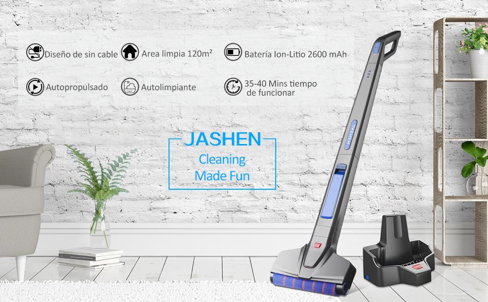 JASHEN Fregona electrica sin Cable, Mopa Electrica con ...