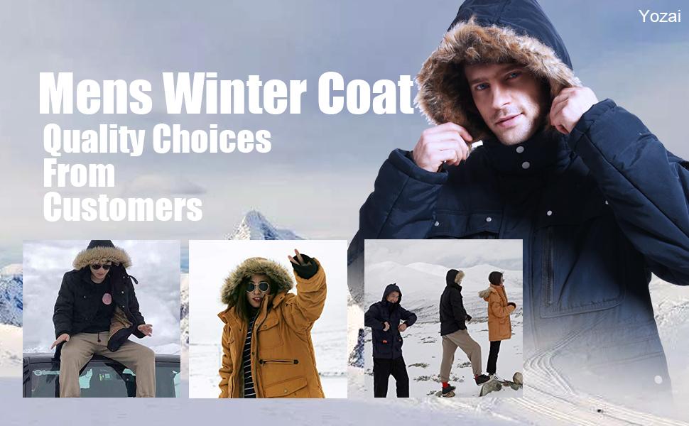 yozai winter jaccket parka coat fur outwear