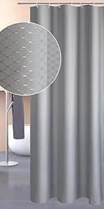 シャワーカーテン グレー