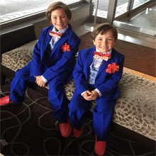 siblings, matching, blue, royal, wedding, suit, costums, costum