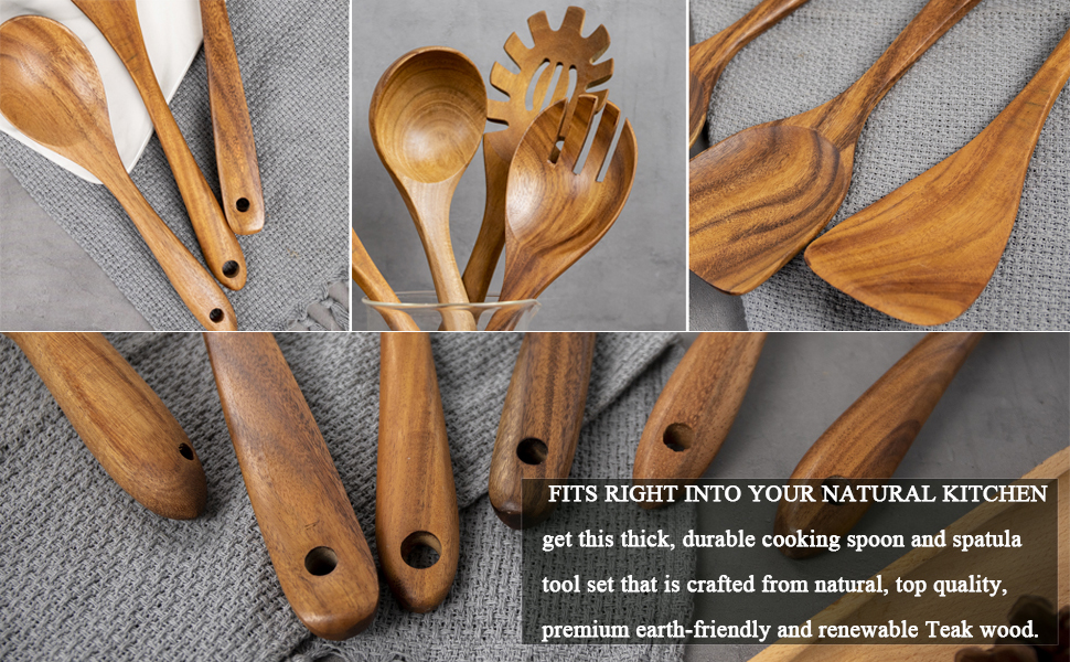 WOODEN KITCHEN SPOONS