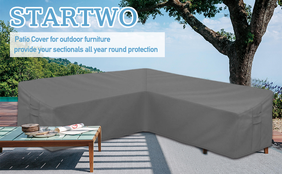 STARTWO patio furniture cover sectional