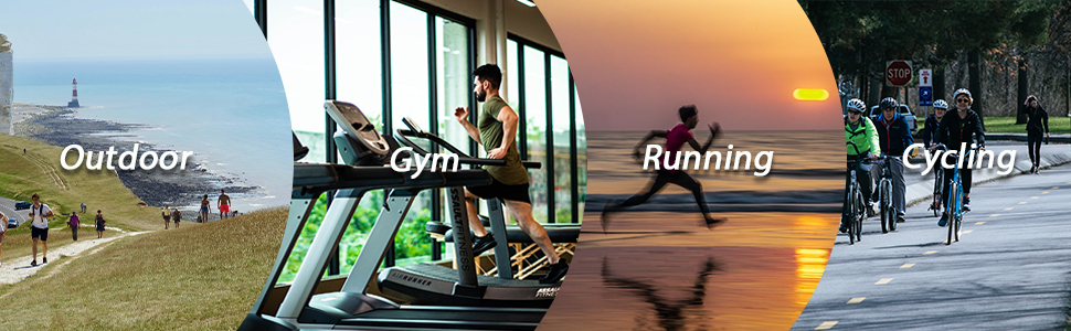 Suitable for various outdoor activities, such as running, fitness, basketball, walking, training.