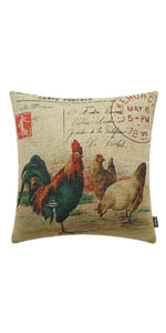 Trendin Easter Rooster Pillow Cover