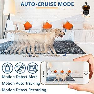 Auto cruise mode motion alert Auto INSTALLATION tracking Detect Recording Pan/Tilt vertical rotation