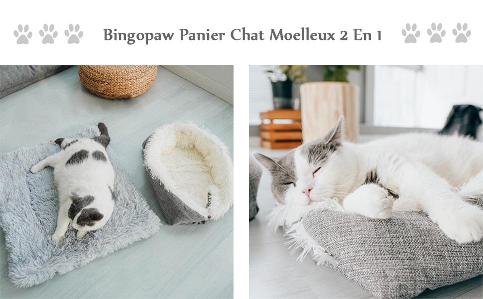 panier chat moelleux anti stress
