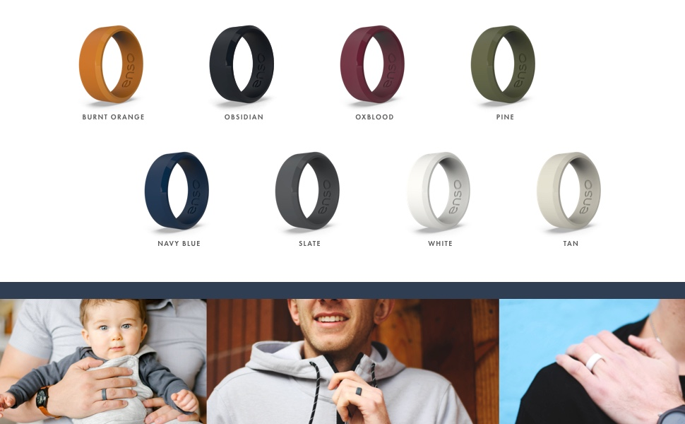 and Safe Enso Rings Thin Bevel Silicone Ring Breathable Lifetime Quality Guarantee Comfortable