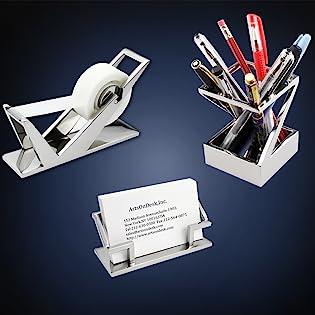 office product collection business card holder pen holder tape dispenser