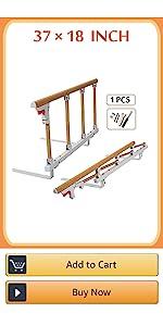 half bed rail for elderly