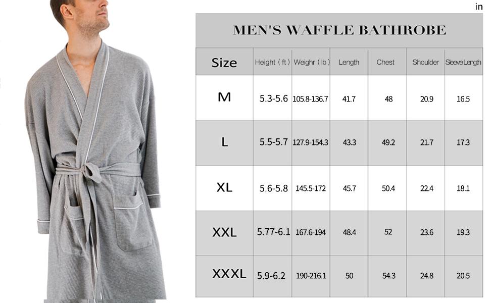 Size2 Details about  /Plus size Luxury Waffle Cotton Bathrobe 5-star hotel quality Size XL-XXL