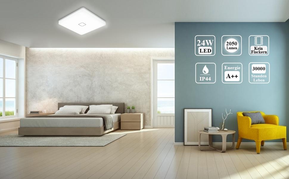 Plafonnier LED pour salon, chambre à coucher, salle à manger, salle de bain.