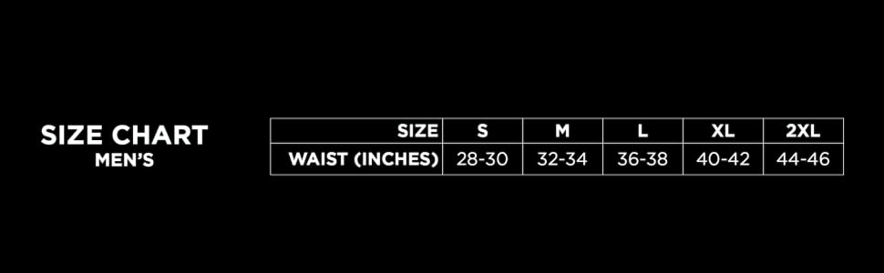 size guide chart for mens underwear boxer briefs trunks knickers