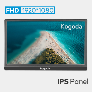 1080P  13.3″ Portable Monitor, Kogoda FHD 1080P USB Computer Display Eye Care Gaming Monitor External Secondary Display with IPS Panel, HDMI, Type-C, Dual Speakers for PC Laptop Mac Phone PS4 Xbox (Gray) e191c2c9 e523 435e 8004 794c660f70fc