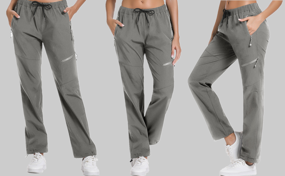 cargo pants for women  womens hiking pants  drawstring hiking pants lightweight stretch pants