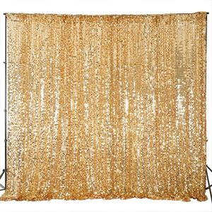 Gold Big Payette Sequin Backdrop Curtain