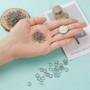 Open Jump Rings Connectors Jewelry Findings for Jewelry Making