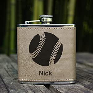 faux leather flask
