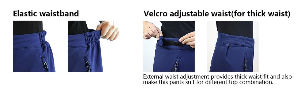 2 type of waistband: Velcro waist, elastic waist