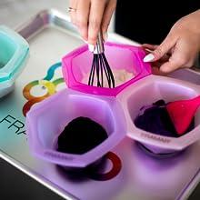 decolorante para el cabello hair salon supplies tint tools highlighting kit little mixing bowls