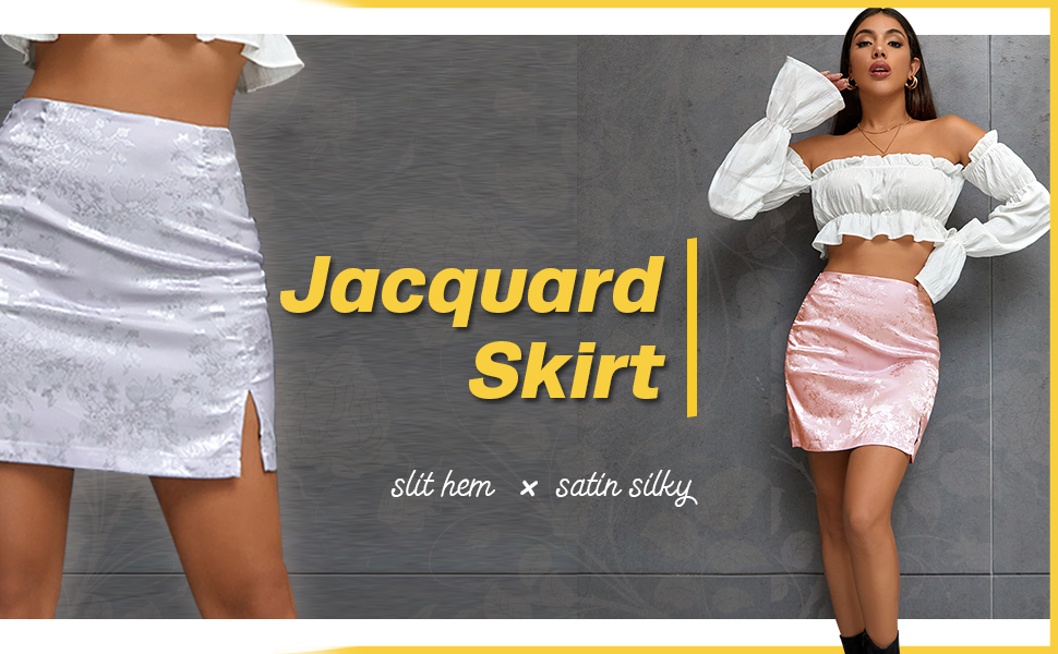 Jacquard skirt with multicolor