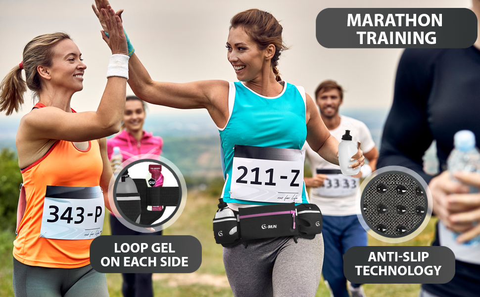 Hydration Running Belt with Bottles