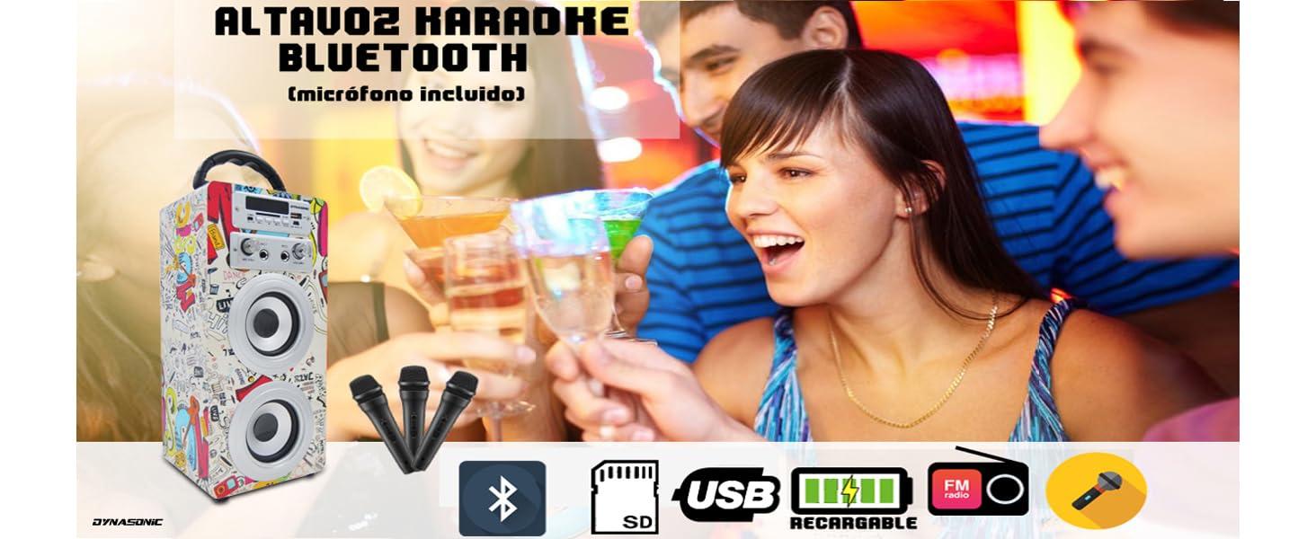 Altavoz Bluetooth Karaoke