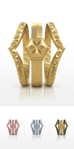 Women's Triangle Diamond Stackable Bands
