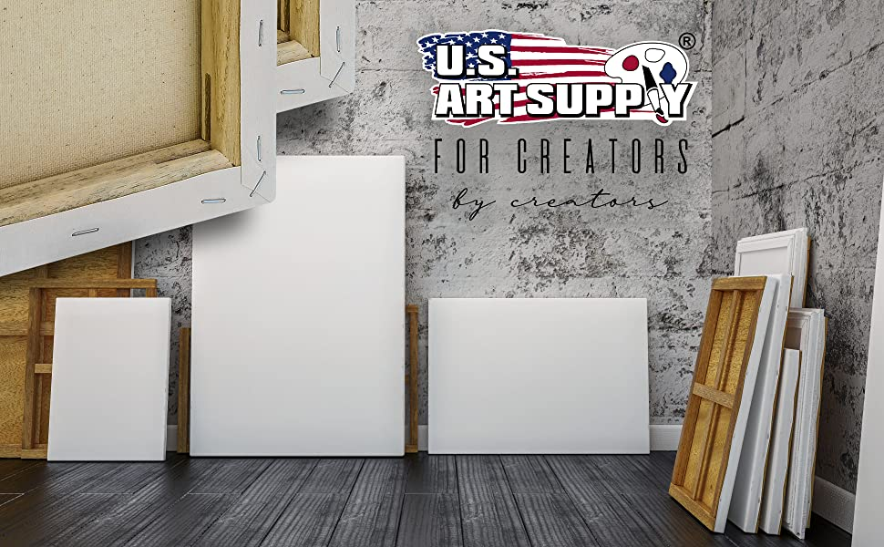 U.S. Art Supply Stretched Canvas Multipack